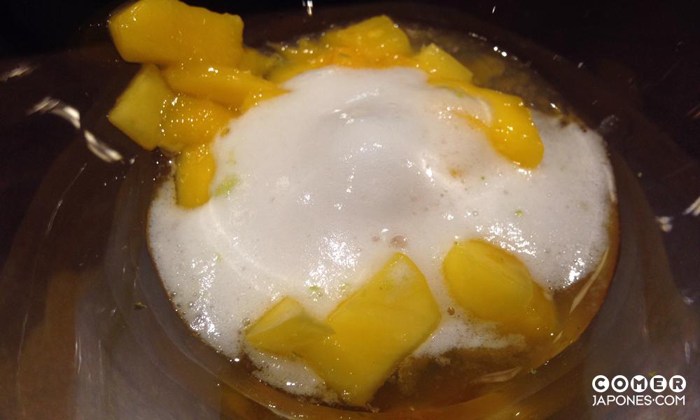 Postre: tartar de mango