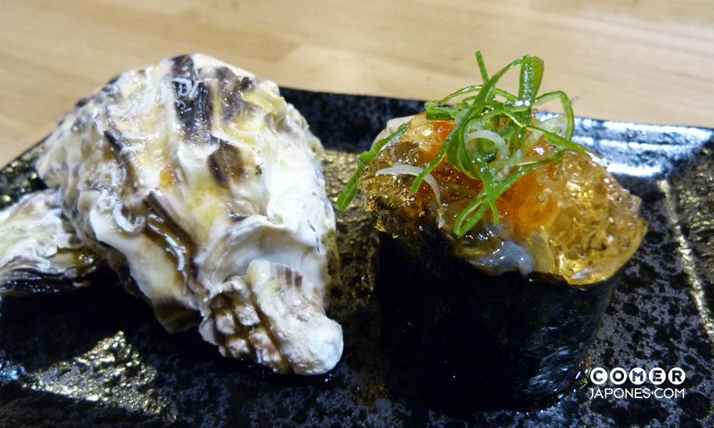 Kaki gunkanmaki (gunkanmaki de ostra)
