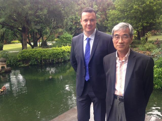 Almuerzo en la residencia de S.E. Embajador del Japón en Paraguay, Sr. Yoshihida Ueda.