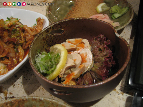 Anko no kimo, del restaurante Yû.