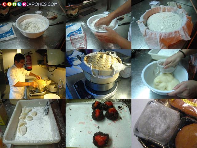 Proceso de elaboración del mochi