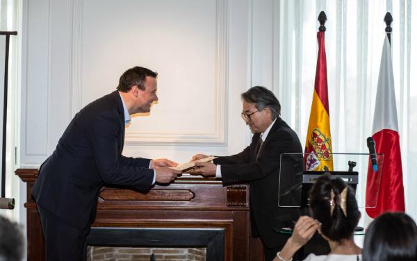 Roger Ortuño nombrado Embajador de Buena Voluntad de la Gastronomía Japonesa