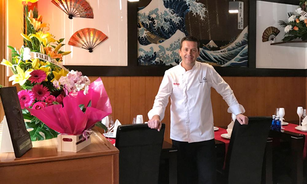 Miguel Martínez, actual chef del restaurante Fuji