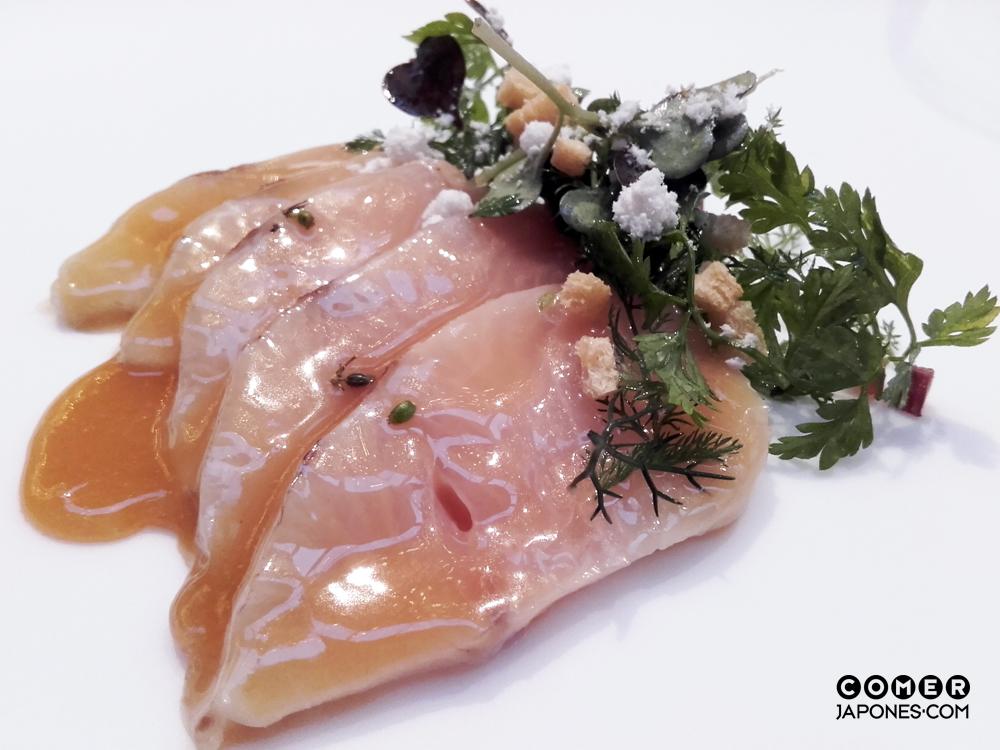 Hamachi de Japón con jamón ibérico