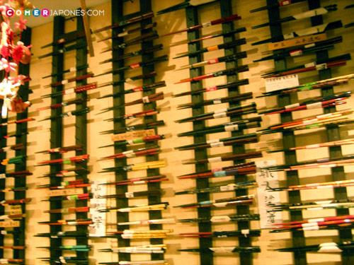 Tienda de palillos japoneses (hashi)
