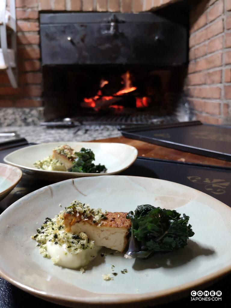 El horno a leña de la cocina de L'Antic Forn
