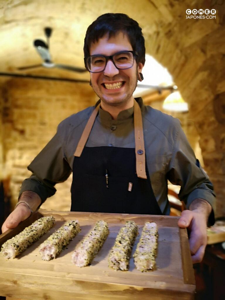 "Sergo Ortiz con su ""sushi divertido"""