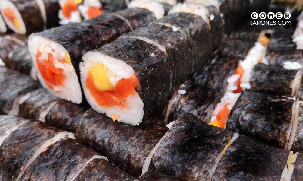 maki de salmón salvaje de Alaska