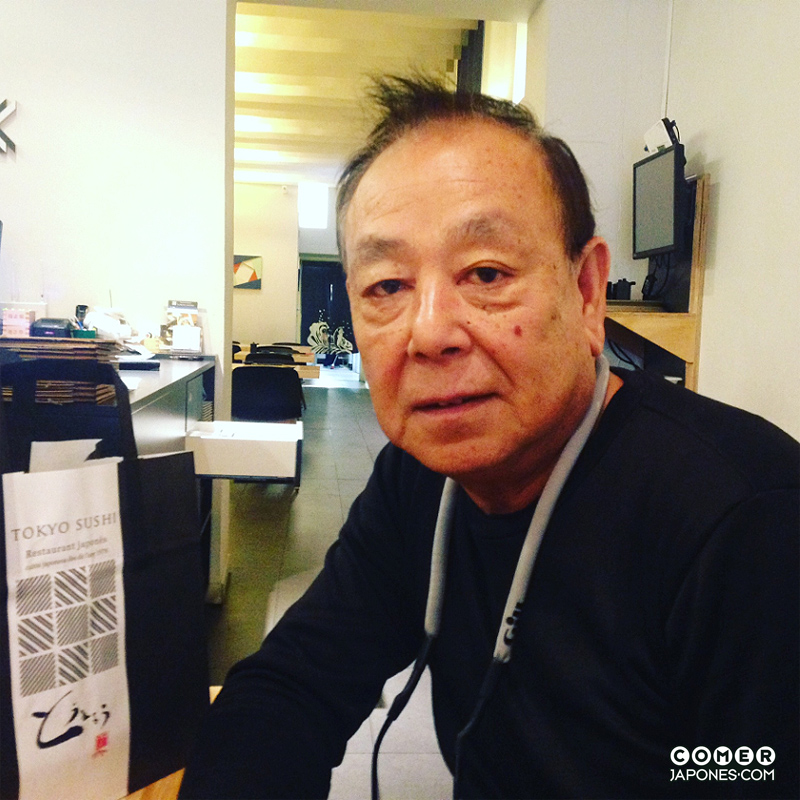 Minoru Nishiyama, chef del primer restaurante japonés en Barcelona.
