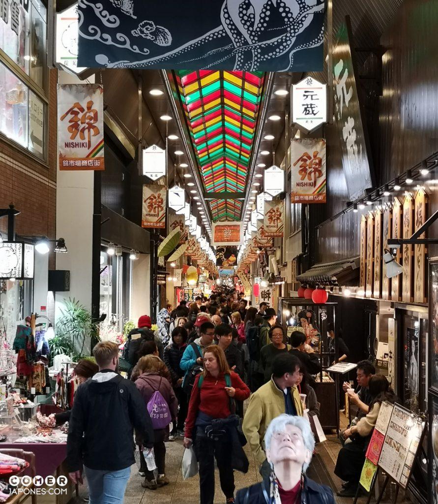 Viaje gastronómico a Japón: Mercado de Nishiki
