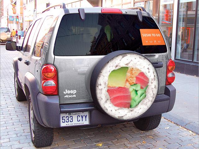 Publicidad de sushi a domicilio