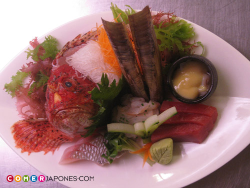 Sashimi de escórpora