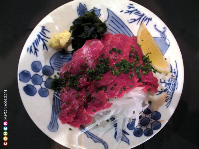 Sashimi de caballo