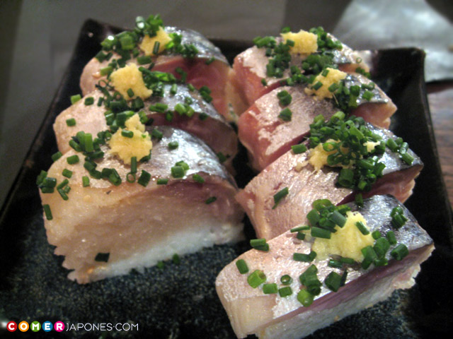 Shime saba (sushi de caballa marinada)