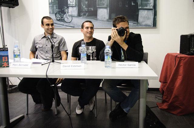 Marc Bernabé, David Esteban y Héctor García en la presentación de Soñar con Japón