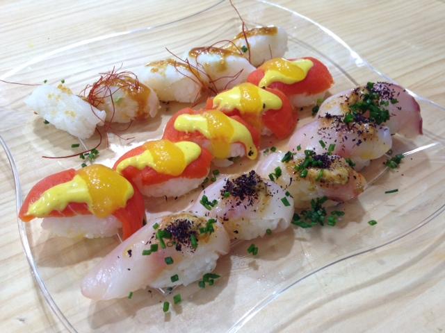 Sushi de salmón de Alaska