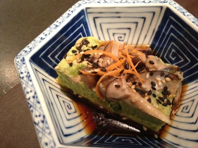 Tofu de guisantes del restaurante Can Kenji.