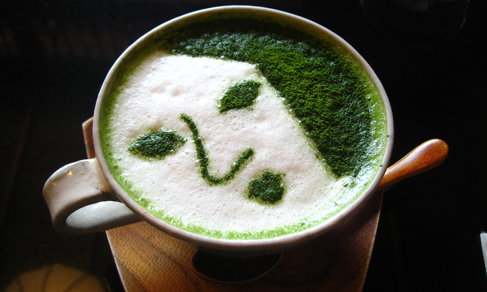 Yojiya Cafe Kyoto - matcha latte