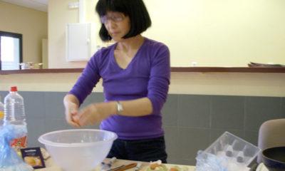 Yuko Kato en la cocina